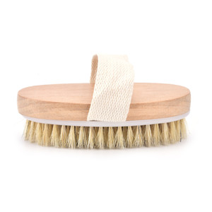 1 Pc portable Dry Wet Skin Body Natural Bristle Brush Soft SPA Brush Bath Massager