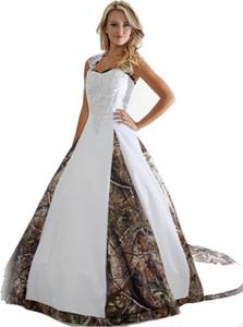 Новые Камуфляжные Свадебные Платья С Аппликациями Бальное Платье Длинное Камуфляжное Свадебное Платье Плюс Размер Свадебные Платья