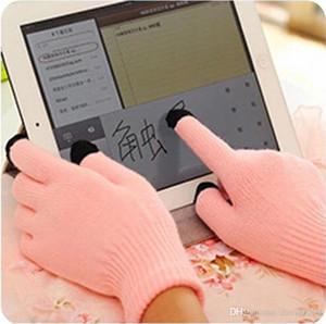 K avec flanelle épaisse hiver chaud nouveaux gants à écran tactile magiques gants à tricoter pour écran tactile