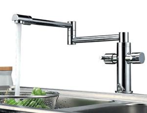 Spedizione gratuita piega Kitchen Faucet Extension Acqua Calda e Fredda Rubinetto Della Cucina Miscelatore Rubinetto Torneira de Cozinha BF033