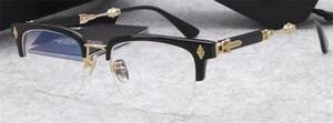 Neue beliebte Retro Männer optische Gläser EVA-Punk-Stil Design Retro-Rahmen mit HD-Objektiv hochwertiger Leder-Box