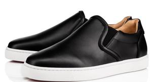 Yeni Düşük erkek siyah beyaz hakiki deri Kırmızı Alt Lüks Erkekler ve Kadınlar Için Parti Tasarımcı Sneakers Ünlü Marka boyutu EU36-47