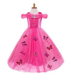 Girls Cartoon Dress Kids Rose Red Fancy Dress Children Cosplay Beauty Princess Costumes Party Dress Girls Halloween