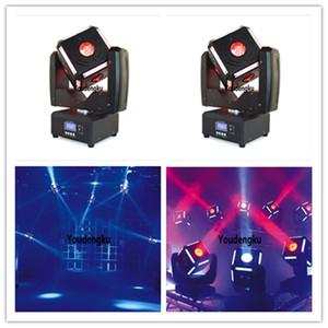6 ojos haz cabeza móvil del cubo del LED con 6w * 12pcs RGB SMD5050 dmx llevó mini lavado principal móvil del haz