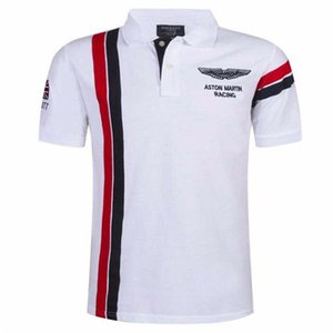 2018 New Summer Herren Kurzarm Stickerei Polo Shirt Herrenmode Atmungsaktive Polo Shirt Camisa Revers Slim Tops S-XXXL 59