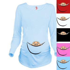 Nouveau Design Maternity Shirt 100% Coton Vêtements de maternité pour les femmes enceintes Plus Size XXL Livraison gratuite