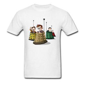 Bump The Doctors T-shirt Men Dr Who T Shirt TV T Shirts Funny Summer Clothes 100% Cotton Tshirt 3D Cartoon Top Tees