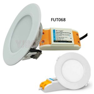 Milight FUT060 / FUT068 6W Dual White / RGB + CCT LED Downlight عكس الضوء AC86-265V FUT005 / FUT092 remote