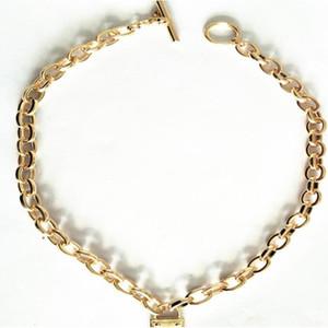 Grand bracelet de luxe de marque MK bracelet m alliage série de sélection de couleur de collier court en alliage pour homme et femme