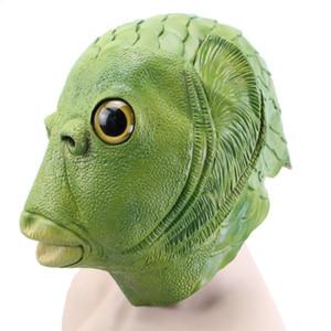 Hanzi_masks Halloween Party Latex Cute Masquerade Rubber Golden Fish Masks Realistico testa di pesce Maschera Animal Full Head Mask