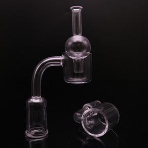 Quartz alta Quanlity Nail OD 25mm quave banger quarzo miele secchio banger Con sfera di vetro Carb Cap Per tubo di vetro mano