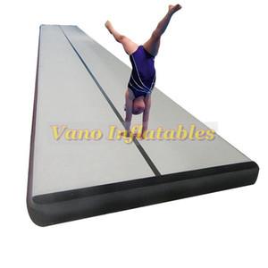 Air Track Mats 4x1x0.2m aufblasbare Air Track Gymnastik für den Heimgebrauch, Strand, Park und Wasser mit Pumpe