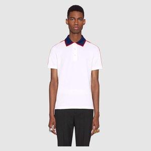 2019 Tasarımcı Polo Gömlek Casual Erkekler ve Kadınlar Gömlek En Tees Marka Polo Düz Renk Erkek Kadın Giyim Artı Boyutu M-3XL