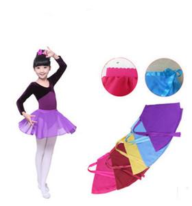 Lindos niños niñas ropa de baile Faldas de baile Ropa de rendimiento de los estudiantes Vestido de falda de ballet de gasa para bebés Verano Multi colores C5356