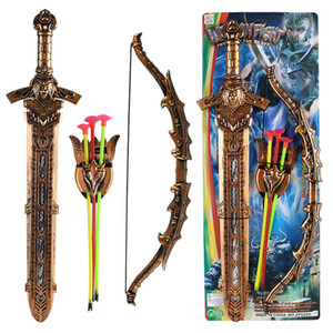 Free shipping Children's swordsman plastic toys Sword European style warrior Sword Performance Heavenly King Sword arms Model toy