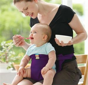 Tragbarer Gedecken Mittagessen Stuhl Sicherheitsgurt Kinderstuhl Stretch Wrap Fütterstuhl Harness Baby-Zusatzsitz