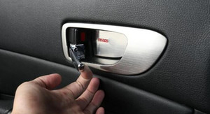 ABS de alta calidad cromo 4pcs marco de la decoración del coche cubierta de la manija interior de la puerta + 4pcs interior tazón manija de la puerta para el Mazda6 2003-2013