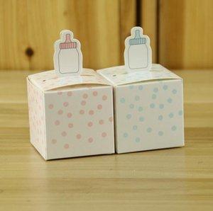 New Baby Bottle Dot Papel Baby Shower Papel Presente Caixa De Chocolate Decorações Da Festa de Aniversário Caixa De Doces Do Casamento Favor de Partido