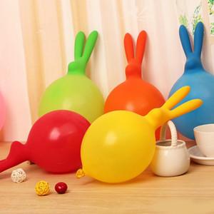 Tavşan Şekli Airballoon Güzel Polikromatik Lateks Balon Eğlenceli Çocuklar Için Şişme Oyuncak Hava Balonlar Düğün Parti Dekoru 9yz ii