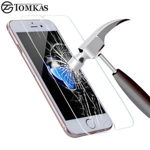 Vidrio templado para iPhone 7 6 6S Plus 8 Plus X Protector de pantalla a prueba de explosiones para iPhone 5 5S SE 5C 4S Película protectora de vidrio