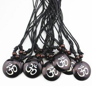 Moda Takı Toptan Karışık 12 adet Reçine Oyma AUM OM Ohm Hindu Budist Hinduizm Yoga Hindistan Kolye Kolye Muska Şanslı Hediye mn578
