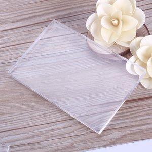 Новый высокое качество прозрачный акриловый коврик для резки пластины для DIY тиснение плашки платформы адаптер прозрачный Die Cutter#232307
