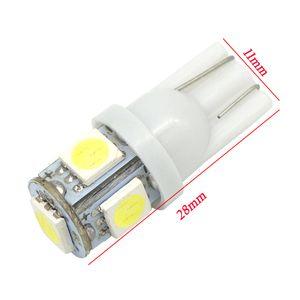 10pcs Auto T10 192 168 194 5 LED 5050 W5W Porte Ampoule Lumière Parking Ampoule De Voiture LED Dôme Festoon C5W C10W Lumière De Plaque d'Immatriculation DRL