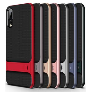 360 volle abdeckung telefon case für huawei p20 pro p10 lite plus pc + tpu stand abdeckung für huawei honor 8 9 lite schutzhülle