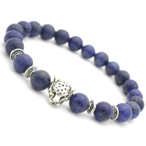 Europe and the United States popular lapis lazuli bracelet leopard head beaded energy healing balance beads yoga bracelet