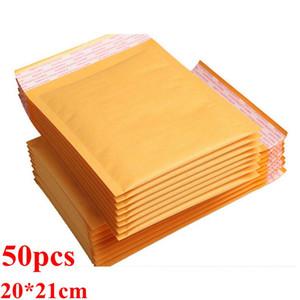 Bubble Wrap Amorti Amorti Wrap Papier kraft Enveloppes Sacs d'emballage bulle d'air Courrier Enveloppes rembourrées Rembourrage Emballages cadeaux 200mm * 210cm