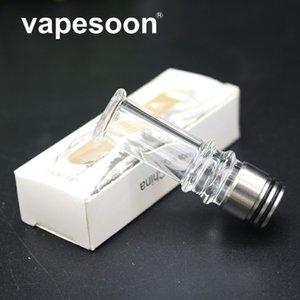 Edelstahl Vape mouthpie 810 510 Drip Tip mit dem langen geraden Glasrohr für die E-Zigarette Vaporizer Atomizer