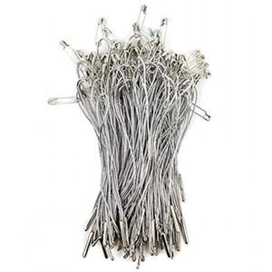 """Sujetadores elegantes para etiquetas colgantes - Paquete de 1000 - 4 """"cuerdas de plata, pasador de seguridad y lengüeta para un fácil acoplamiento"""