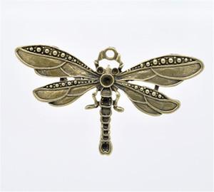 DoreenBeads 5 colgantes del encanto de la libélula del tono de bronce 73x42m m (B13109), yiwu