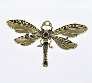 DoreenBeads 5 Bronz Ton Dragonfly Charm Kolye 73x42mm (B13109), türük