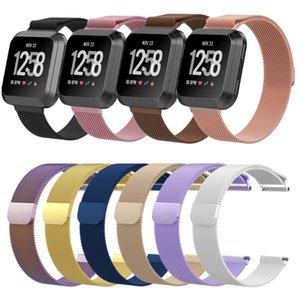 Milanese Edelstahl Magnetic Loop Bracelet Wrist Band Strap für Fitbit Versa Smart Watch Ersatz angepasstes Armband