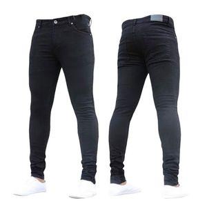 New Fashion Men 's Casual Stretch Röhrenjeans Hosen Enge Hosen Einfarbige Jeans Herren Marke Herren Designer Jeans