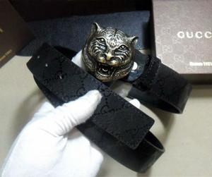 Cinture di testa di tigre senior della cinghia del progettista di marca nuove cinghie della pelle bovina casuali di modo di nuova moda per gli uomini cinture di vita