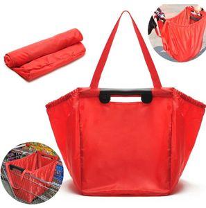2 개 재사용 잡아 가방 나일론 쇼핑 식료품 가방 절연 토트 접이식 슈퍼마켓 대용량 보유