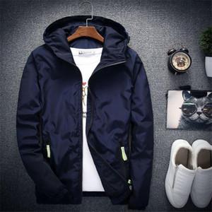 뜨거운 남자의 재킷 자 켓 재킷 남자 까마귀 코트 세련 된 패션 남자 여성 후드 얇은 윈드 서퍼 지퍼 코트 Outwear 맞추기