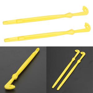 2 Unids Easy Hook Loop Tyer Disgorger Tool Tie Fast Nail Knot Fly Tying Tool Cañas de aparejos de pesca Fly Fishing Hook Line Kit Tier