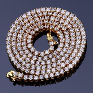 Hiphop Trendy Jewellry Männer Gold Halsketten Luxus Kubikzirkonia Halskette Top Qualität Marke Hip Hop Ketten 2018 Heißer Verkauf
