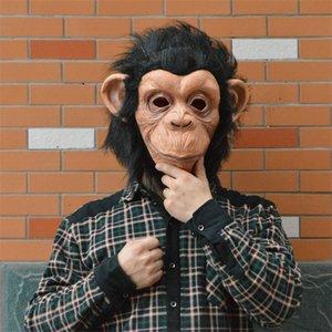 Новый Хэллоуин Маска Большой рот маска обезьяны Ужас Ложи Хэллоуин Реалистичные Маски Кремния Маскарад Бал Маска Косплей Props.9.5Z