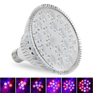 Bombillas LED para cultivo 15W 21W 27W 36W 45W 54W E27 PAR38 PAR30 Bombilla para planta de flor Sistema de hidroponía Caja de cultivo