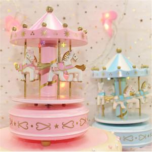 Unicornio 1 Unid Rosa Unicornio Madera Música Carrusel Pastel Decoración Fiesta de Cumpleaños Decoraciones Niños Unicorno Baby Shower Fiesta Unicornio