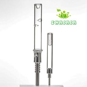 Mini kit de colector de néctar Puntas de tubo de vidrio con clavo de titanio 10 mm 14 mm Agua conjunta macho Bongs Cera Plataformas petroleras