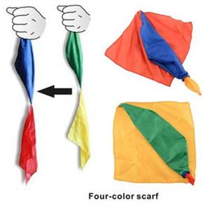 Изменение цвета шелковый шарф для Magic Trick г Волшебные Шутки Реквизит Инструменты Игрушки Подарочные случайно красим
