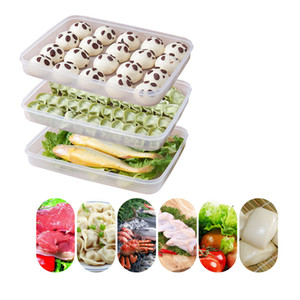 Buzdolabı Plastik Köfte Saklama Kutusu Dondurucu Buzdolapları Space Saver Gıda Organizatör Raf Tutucu Tepsi Kutuları Kapaklı