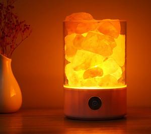 Кристалл соляная лампа отрицательный ион очиститель воздуха лампа, чтобы помочь спать спальня романтическая кристалл маленькая соляная лампа