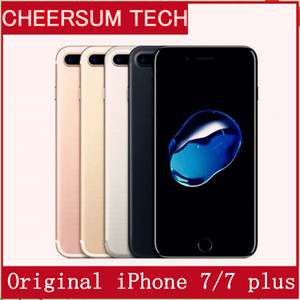 iphone 7 Téléphone cellulaire d'origine Apple iPhone 7/7, plus ios10 Quad Core 2 Go de RAM 32 Go 128 Go 256 Go ROM 12.0mp 4G téléphone portable