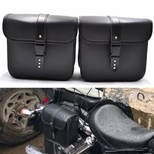 Идеальное Использование Мини Мотоцикл PU Кожаные Седельные Сумки Боковой Хранения Инструмент Сумка